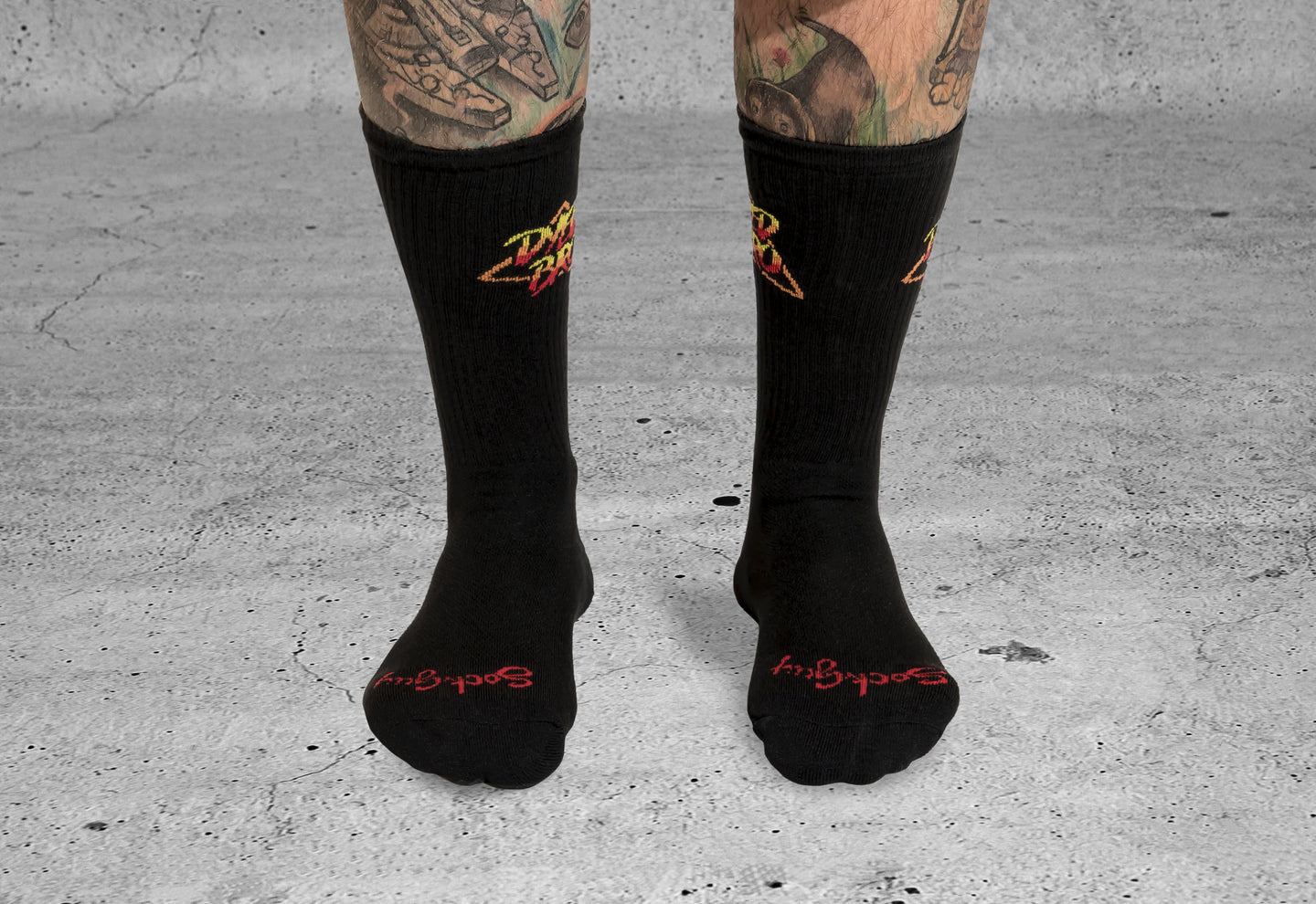 Arcade Socks by DYEDBRO Front