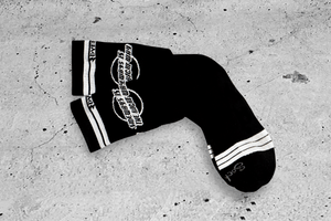 Sideways Socks by DYEDBRO laid out on the floor