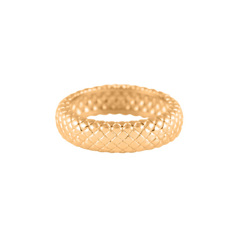 Bold Croco Ring