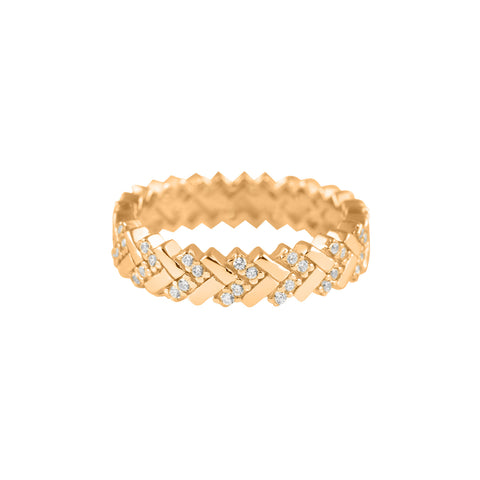 Eternity Zig Zag Ring