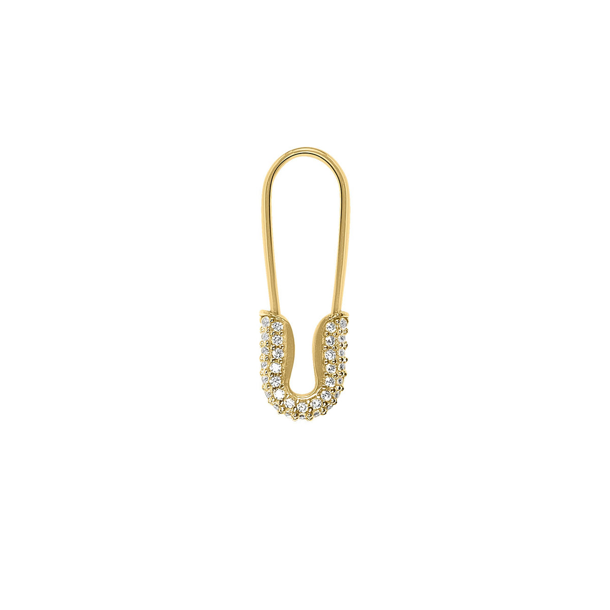 Crystal Safety Pin Ohrring