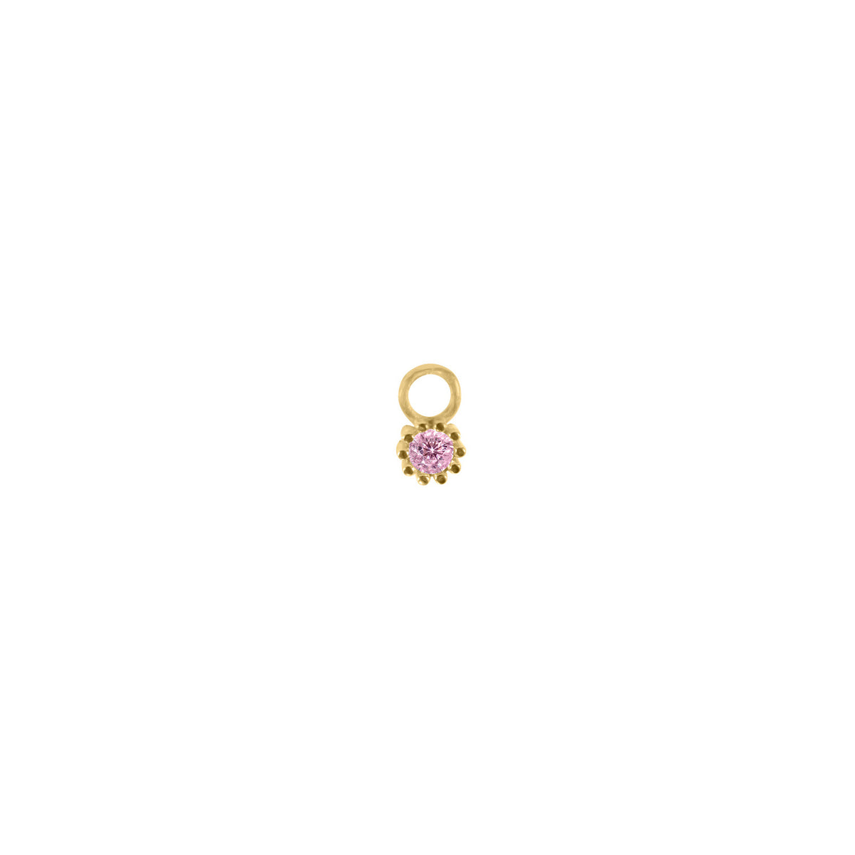 Flowery Pink Stone Charm
