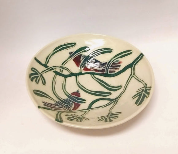 Shallow Bowl with Two Birds