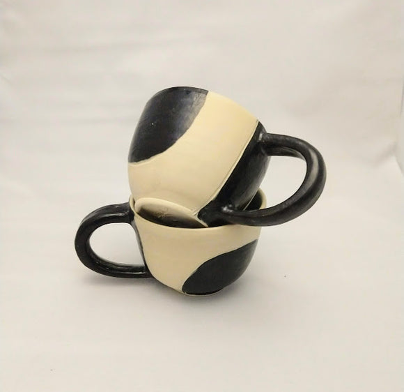 Black and White Colour Block Cups