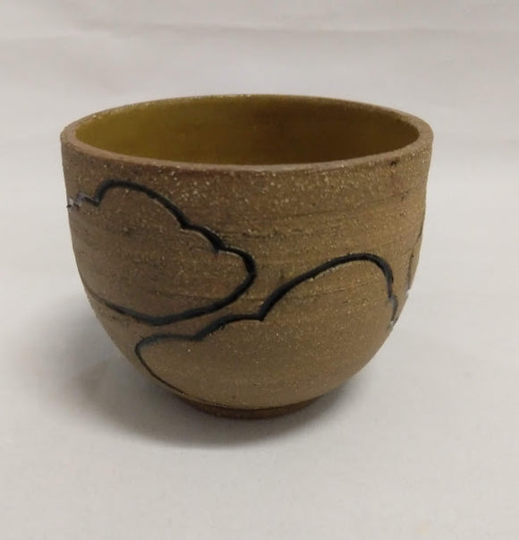 Cloud cup in Brown Stoneware
