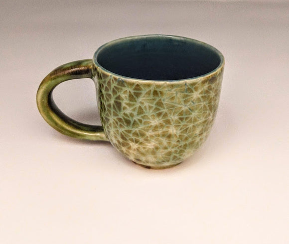 Broken Triangle Mug in Green