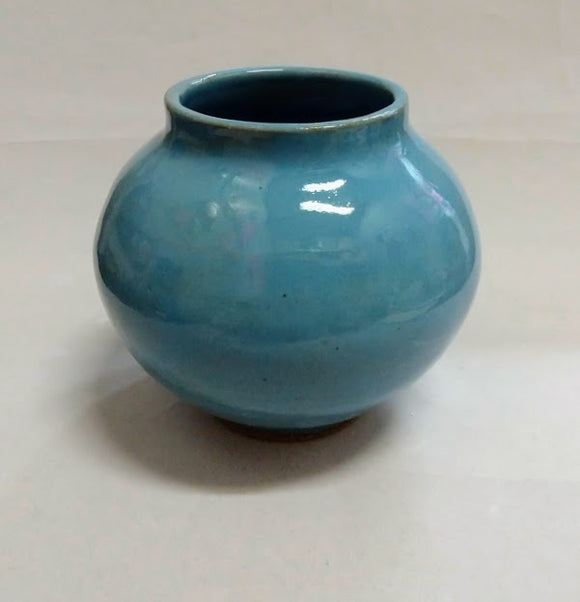 Translucent Blue Mini Moon pot