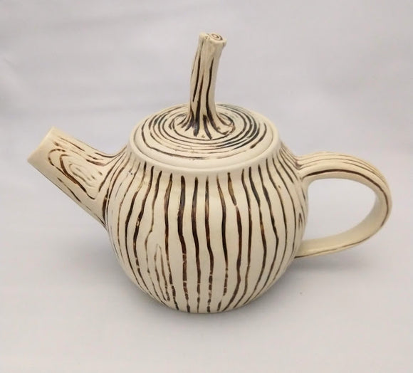 Light Wood grain tea pot