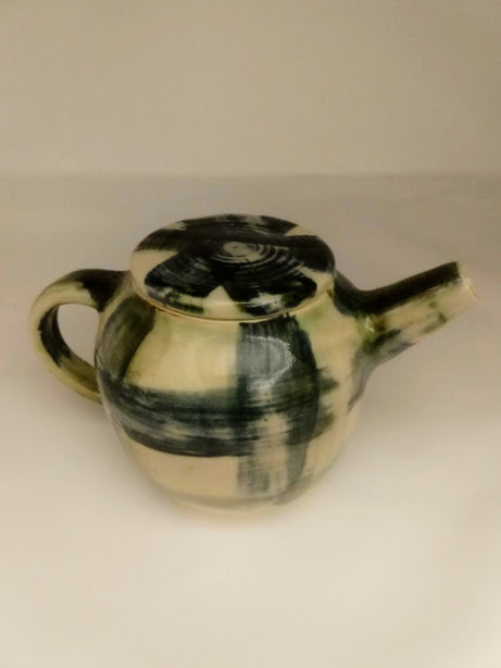 Tea pot in Blue Plaid