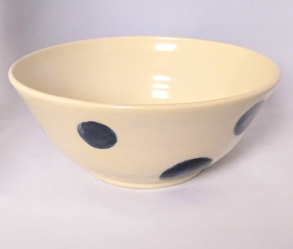 Blue Dot Serving Bowl