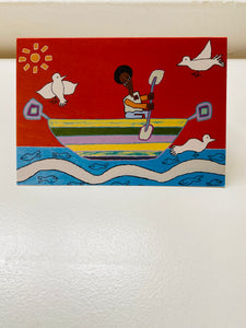 'The Boat' greeting card