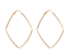 Load image into Gallery viewer, Square Shaped Hoop Earring - Gold