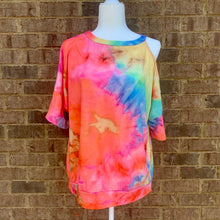 Load image into Gallery viewer, Tie Dye Cold Shoulder Tee