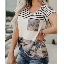 Load image into Gallery viewer, Camo Striped Tee