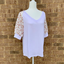 Load image into Gallery viewer, Khaki Leopard Sleeve Top