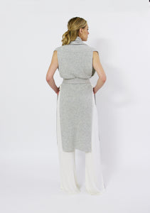 Shawl Vest with Belt