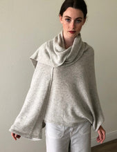Load image into Gallery viewer, Poncho Top With Shawl Neck