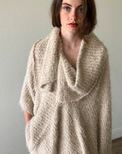 Load image into Gallery viewer, Oversized Collar Asymmetrical Poncho