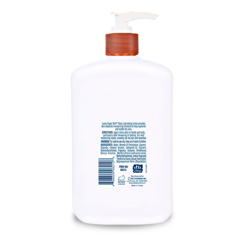 Lucky Super Soft Lubricating Lotion - Shea & Cocoa Butter 15 Fl.Oz.