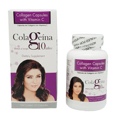 Colageina 10 by Victoria Ruffo, Collagen & Vitamin C 60 caps.