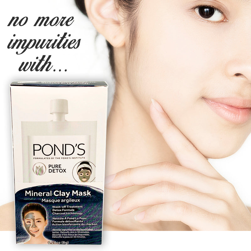 Ponds Charcoal Clay Mask 0.28 Ounce