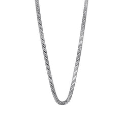 Bering Arctic Symphony Collection Silver Stainless Steel Milanese Woven Mesh Necklace. 450 mm. 423-10-450