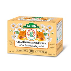 Tadin Tea Manzanilla con Miel / Chamomile Honey. 24 Bags. 0.84 Oz