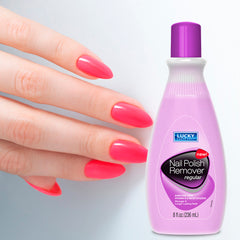 Lucky Super Soft Nail Polish Remover - Regular 8 Fl.Oz.