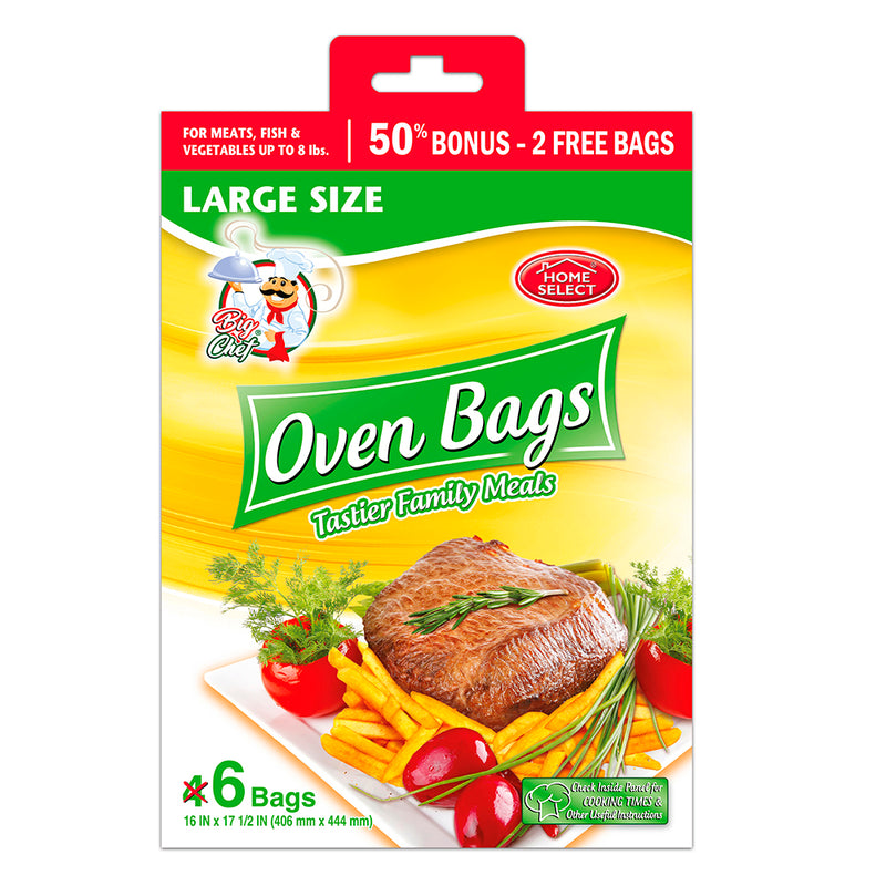 Home Select Oven Bags - Large SizeDisplay - 6 Bags