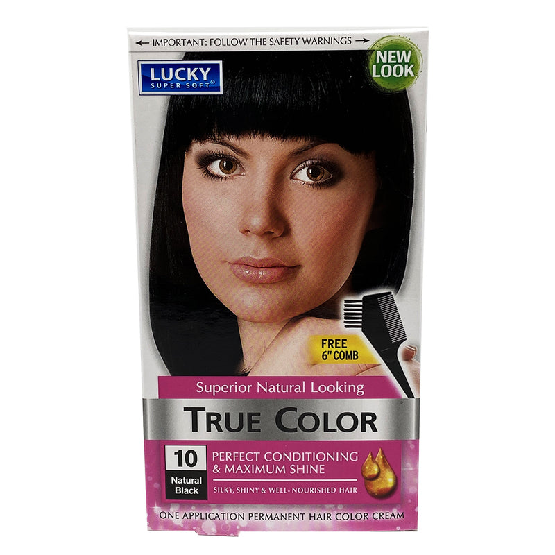 Lucky Super Soft Hair Color - Natural Black (#10) 1 Application