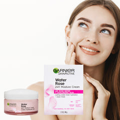 Garnier SkinActive 24H Moisture Cream with Rose Water and Hyaluronic Acid, Face Moisturizer, For Normal to Dry Skin, 1.7 Fl Oz