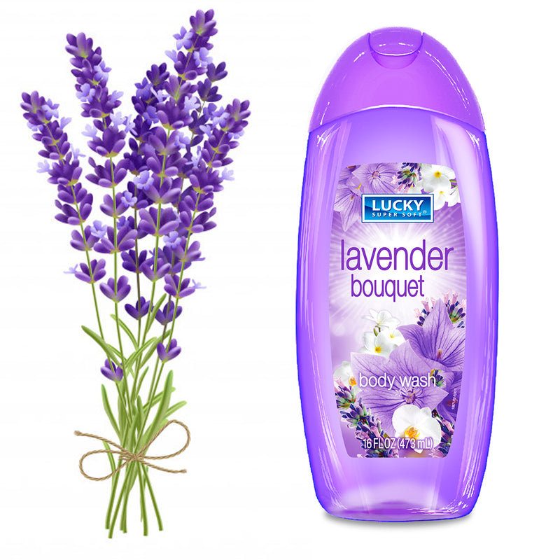 Lucky Super Soft Body Wash - Lavender Bouquet 16 Fl.Oz.