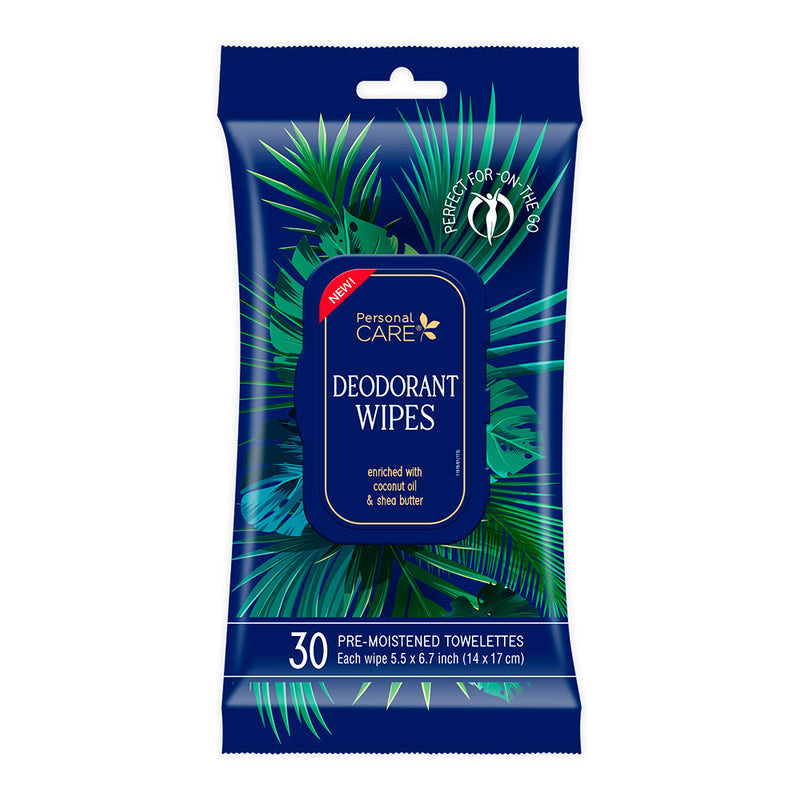 Personal Care Deodorant Wipes - Blue Skies 30 ct.
