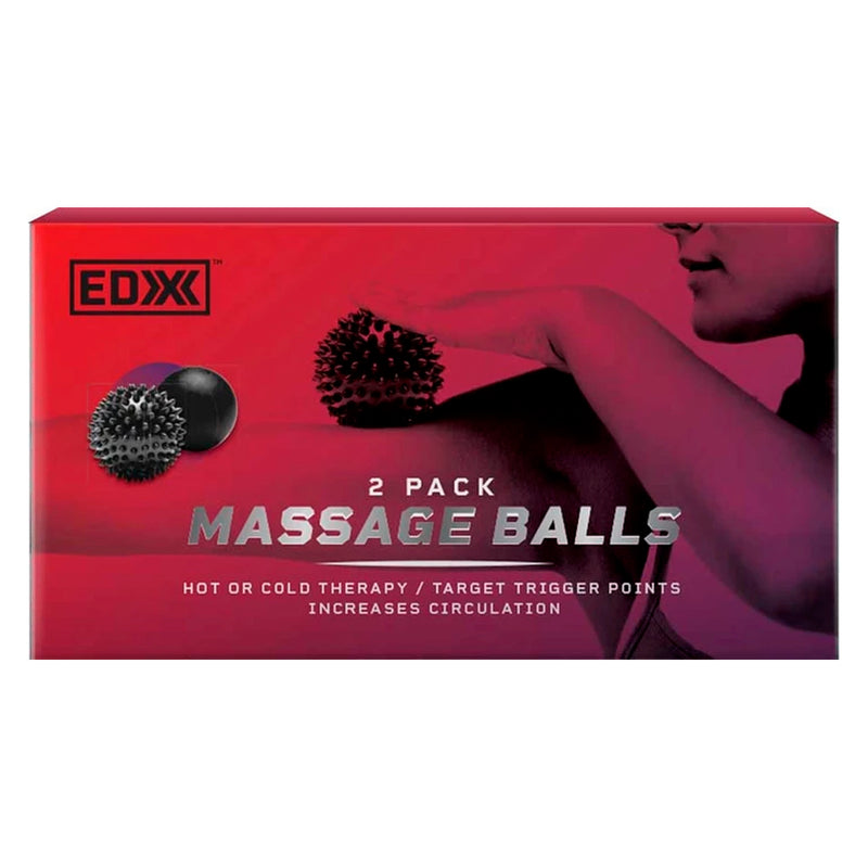 EDX - 2 Piece Massage Ball Set - Black