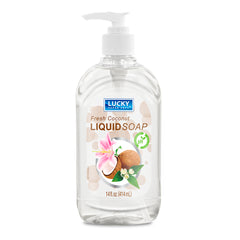 Lucky Super Soft Clear Soap - Coconut 14 Fl.Oz.
