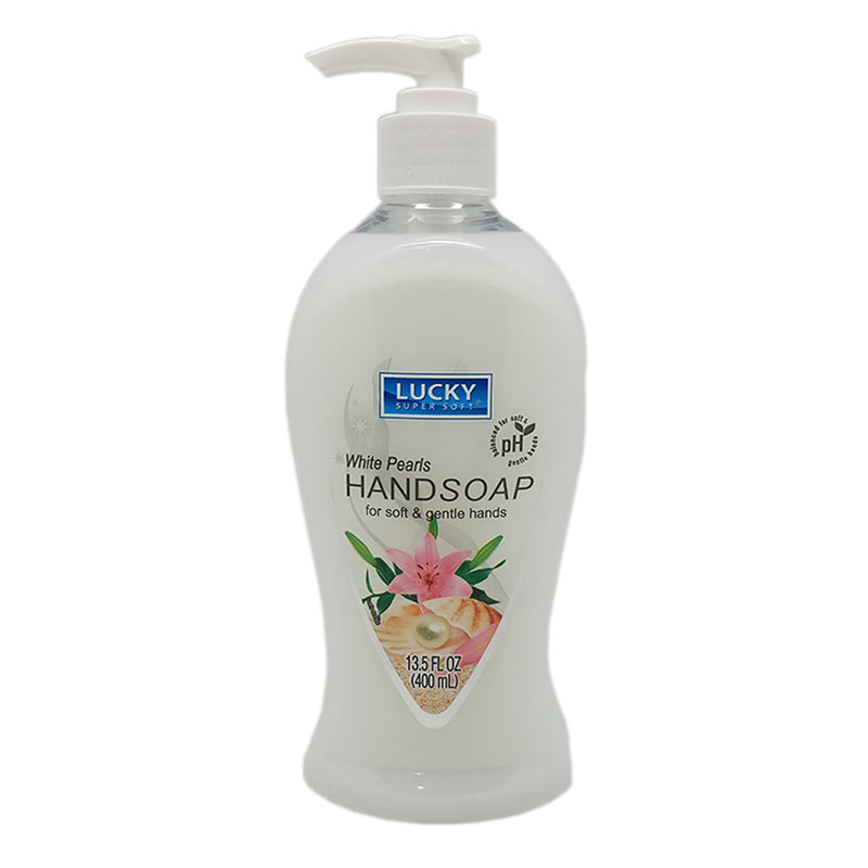 Lucky Liquid Hand Soap White Pearls 13.5 Oz