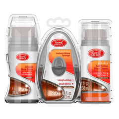 Home Select Shoe Care Kit - 3In1 - Brown 3 Pcs