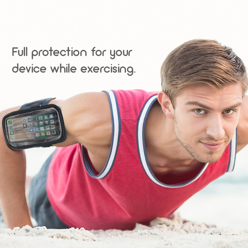 Formfit Armband and Storage Compartment Metallic, Iphone, Samsung All Models Metallic Black.