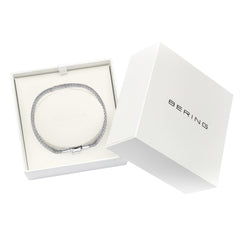 Bering Artic Symphony Collection Mesh 170mm Bracelet & Charm, Silver 613-10-170