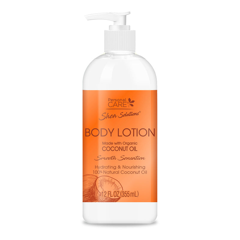 Shea Solutions Body Lotion - Organic Coconut Oil 12 Oz.