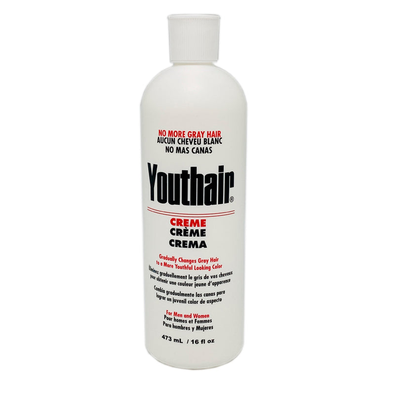 Youthair Conditions & Styles Creme No More Gray Hair For Men 16 Fl 473 Ml