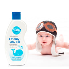 Baby Love Baby Oil - Creamy 12 Oz.