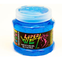 Super Wet Hair Styling Gel Blue, 8.8 Oz / 250 g.