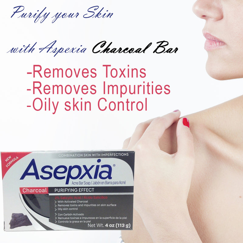 Asepxia Cleasing Bar Charcoal 4 Oz