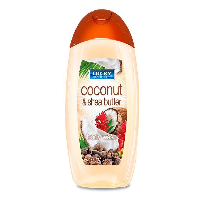 Lucky Super Soft Body Wash - Coconut & Shea Butter 16 Fl.Oz.
