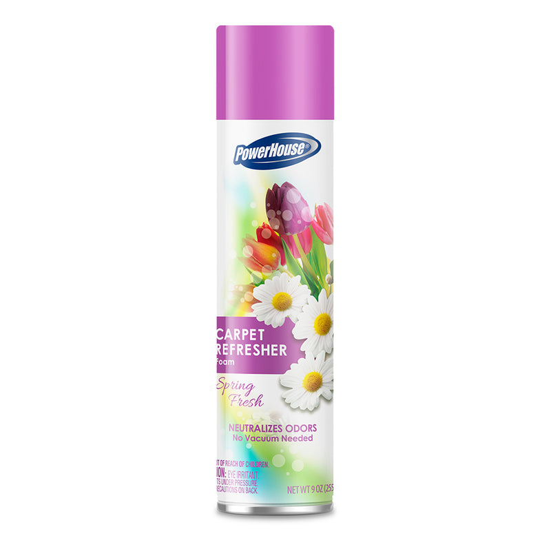PowerHouse Aerosol Cleaner - Carpet Deodorizer - Spring Fresh 9 oz.