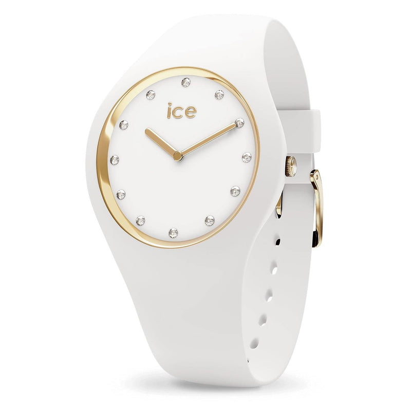 ICE Cosmos White Rose Gold Stainless Steel & Silicone Strap Womens Watch. 016296