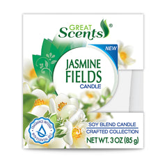 Great Scents Soy Candle - Jasmine Fields 3 Oz.