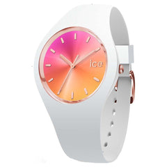 ICE Sunset California Stainless Steel Case & Silicone Strap Womens Watch. 016049