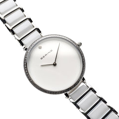 Bering Time Ceramic Silver Steel with Ceramic Elements Women's Watch. 30534-754